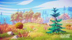 Landscape Illustration, Digital Illustration, Fog Images, 3d Modellierung, Nature 3d, Social Art, Game Concept Art, Fantasy Artwork, Scenery