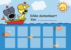 Dikke duimenkaart - Beloningskaart 1 - Woezel en Pip