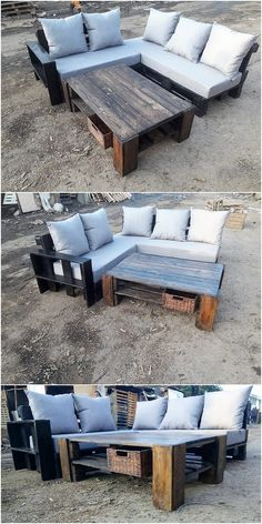 The Best and Easiest DIY Ideas with Recycled Wood Pallets - Wooden Pallet Ideas Wood Pallet Furniture, Distressed Furniture, Repurposed Furniture, Outdoor Furniture Sets, Furniture Styles, Furniture Deals, Headboard Shapes, Pallet Patio, Pallet Designs