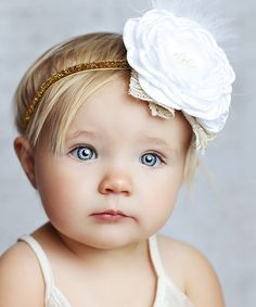 Another great find on #zulily! Gold Flower Frosted Headband #zulilyfinds