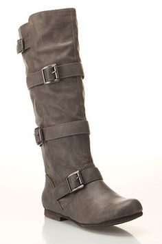Blowfish Boots in Taupe.
