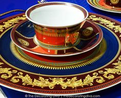 Striking Colors and Details of Versace Iconic Heroes Tableware