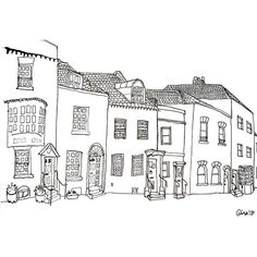 A Row of Odd Houses - Art Quirk