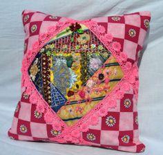 crazy cushion Cushions, Throw Pillows, Quilts, Studio, Toss Pillows, Toss Pillows, Pillows, Quilt Sets, Decorative Pillows