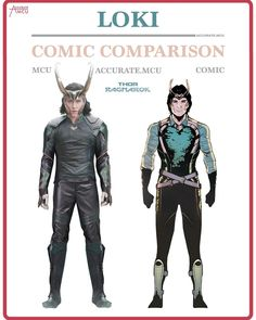 """""""LOKI - COMIC COMPARISON 2.0 • I can't wait to finally see Loki again in Thor Ragnarok. His new costume is awesome, I like that they made it more turquoise instead of green. It's refreshing, all of Thor ragnarok is refreshing."""" Source: http://instapub.net/media/1599433099321857038_3890903309"""