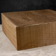 """12""""  Square Rustic  Wood Display Cake or Candle Holder Stand $39 @Debbie Parker Stankevich, so cool right?"""