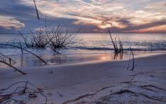 Preview wallpaper sunset, sea, beach, landscape