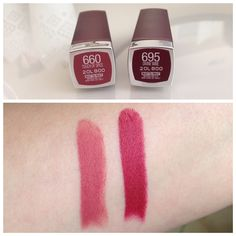 Maybelline Touch of Spice Swatches, Maybelline Divine Wine Swatches