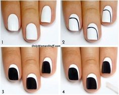 Easy nail art designs for beginners, Easy nail art designs at home for beginners without tools, Easy nail art designs to do at home step by step, Nail arts at home, Nail art design gallery, Easy nail art designs for short nails, Nail art designs step by step, Nail art design gallery, simple and easy nail designs, nail art designs for summer.