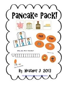 100 TPT FOLLOWERS FREEBIE!!!!  LET'S CELEBRATE WITH PANCAKES!!   Pancake Packet of Activities-great for If You Give a Pig a Pancake