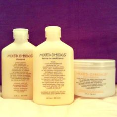 Product Review: Mixed Chicks. OMG!!! Magic in a bottle for naturally curly hair. Perfect for my 3B curls!Makes my natural hair look like a rock star. :D