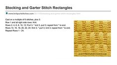 Knit Purl Stitches ■ Stocking and Garter stitch Rectangles. Written instructions