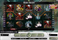 Jouer avec cette superbe machine à sous 25 lignes Blood Suckers et tentez d'atteindre le Jackpot en évitant les Vampires !  http://www.casinobens.com/machine-a-sous-25-lignes-blood-suckers.php