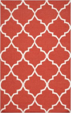 wool    Artistic Weavers - Artistic Weavers York Mallory Coral-White Area Rug #112306