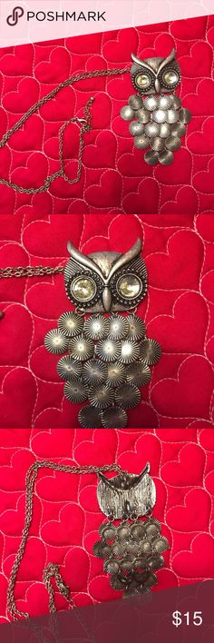 """Owl Chain Necklace 30"""" owl chain necklace Jewelry Necklaces"""