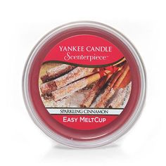 YANKEE CANDLE Easy meltcup scenterpiece sparkling cinnamon for sale online Water Candle, Yankee Candle Jars, Blue Candles, Wax Tarts, Votive Candle Holders, Easy, Cinnamon, Fragrance, Sparkle