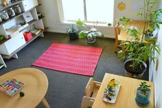 Study - how we montessori. this is a children's work (not play) space in the home