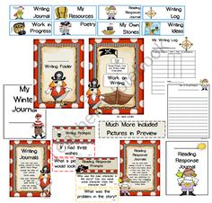 Work on Writing Pirate Style (CenterChoices and Student Folders) product from Seejaneteachmultiage on TeachersNotebook.com