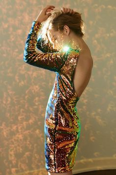 Motel Gabby Sequin Mini Dress | Urban Outfitters