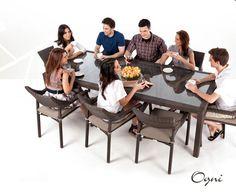 Ciro Rectangular Dining Table for 8 (Glass)   Palason, Montreal, Quebec