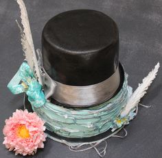Top Hat Cake and Sugar Art www.BakersCottageCakes.com https://www.facebook.com/BakesCottageCakes?ref=hl