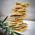 So easy, so delicious!   Rustic Rosemary Herb Crackers