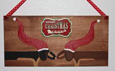 Dachshund Christmas Home Decor Merry Christmas by MaxMinnieandMe, $15.00