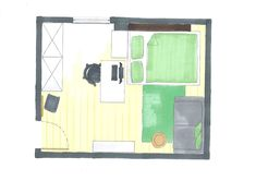 Jugendzimmer mit Dachschräge www.lk-design.at Wordpress, Floor Plans, Design, Store Shelving, Swivel Chair, Paint For Walls, Haus, Design Comics, House Floor Plans