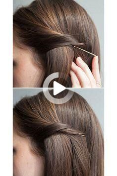 For those lazy, tiring, or busy days, try doing one of these 8 easy hairstyles for busy women. They'll look stunning without a lot of effort. #easyhairstyles Easy Hairstyles For Medium Hair, Boho Hairstyles, Short Hair Styles Easy, Medium Hair Styles, Hair Hacks, Hairstyle Hacks, Looking Stunning, Effort, Bobby Pins