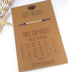 Printer Projects New York Morse Code Bracelet Rose Gold Diy Bracelets Easy, Bracelet Crafts, Jewelry Crafts, Best Friend Gifts, Gifts For Friends, Cute Gifts, Diy Gifts, Morse Code Words, Beaded Jewelry