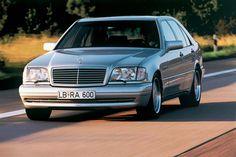 Mercedes-Benz S-class Mens Car evolution in speed,safety and comfort Mercedes W140, Mercedes Benz S, Mercedes S Class, Classic Mercedes, Nascar, Benz S Class, Gasoline Engine, Benz Car, Smartphone