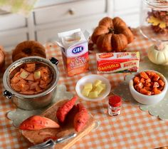 Miniature Making Candied Yams by CuteinMiniature on Etsy