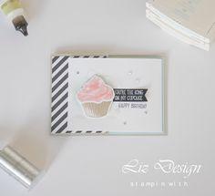 Stampin Up Sweet Cupcake Stampin with Liz Design Card