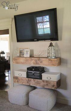 Media Shelves - Free Woodworking Plans