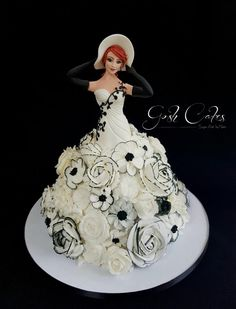 Genevieve Doll Cake by GoshCakes Barbie Torte, Barbie Cake, Pretty Cakes, Beautiful Cakes, Amazing Cakes, Cake Piping, Buttercream Cake, Buttercream Flowers, Unique Cakes