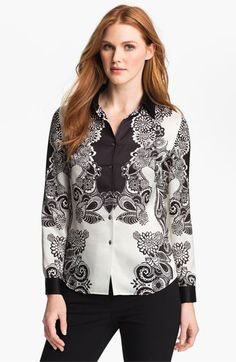 Adrianna Papell 'Engineered Print' Shirt available at #Nordstrom