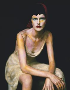 Vogue: like a Painting - at Museu Thyssen-Bornemisza - Madrid. Stella photographed by Paolo Roversi. Paolo Roversi, Tim Walker, Color Photography, Editorial Photography, Fashion Photography, Conceptual Photography, Vogue Fashion, Fashion Art, Fashion Shoot