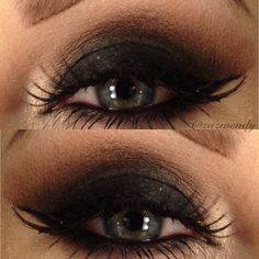 Soft Brown and Texture (transition) Charcoal Brown and Ground Brown (crease) by Mac, Corrupt (lid) by Makeup Geek and Vanilla pigment Mac (tear duct) and Miss Adoro lashes