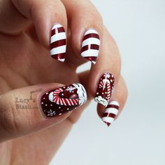 Lucys Stash: Candy cane holiday manicure