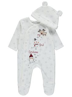 My First Christmas All in One with Hat, read reviews and buy online at George at ASDA. Shop from our latest range in Baby. This snug all in one comes in soft...