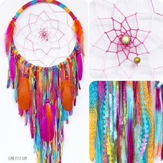 The Harvest Moon Large Native Style Woven Dreamcatcher by eenk, $89.00