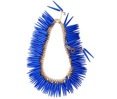 #Blue #Bowerbird #necklace #SS #spikes #Melissacurry €440
