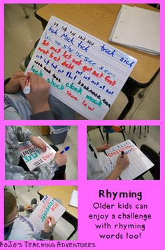 Word Work for Older Kids ~ Working with Rhyming Words {YES! Even in upper elementary!}