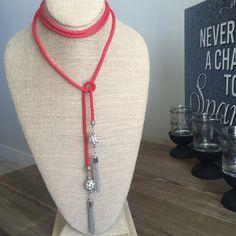 Red Chocker w/ swarovski crystals Handmade in Guadalajara MX Jewelry Necklaces