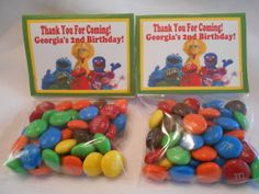 Sesame Street Party Favors  Sesame Street by TheSweetRevenge, $45.00