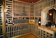 Fabulous Concept of Wine Cellar Custom by Patrick Wallen: Private Wine Cellar In Sonoma California With Mirrored Alcove Equipped With Elegan. Wine Glass Rack, Wine Rack, Home Wine Cellars, Wine Cellar Design, Sonoma California, Wine Storage, Interior Design Inspiration, Design Ideas, Floor Design