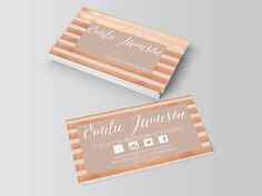 Rosegold business card