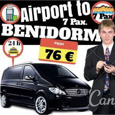 ALICANTE AIRPORT TO BENIDORM FOR 7 PAX. www.alicante-airporttransfers.com/en/