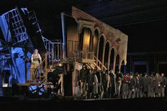 """Audiences watching the Santa Fe Opera's """"Rigoletto"""" wouldn't see all the infrastructure that goes into a production, but it's"""