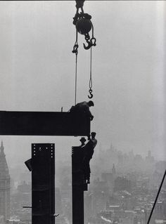 Construction of the Empire State Building. August 1930. Photo by Lewis Hine